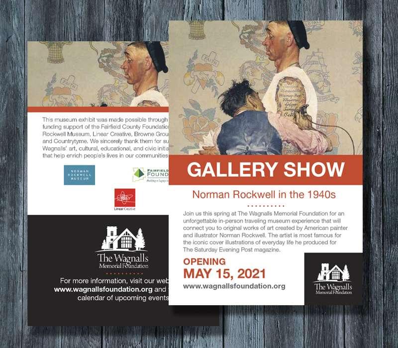 Gallery Opening Printed Postcard