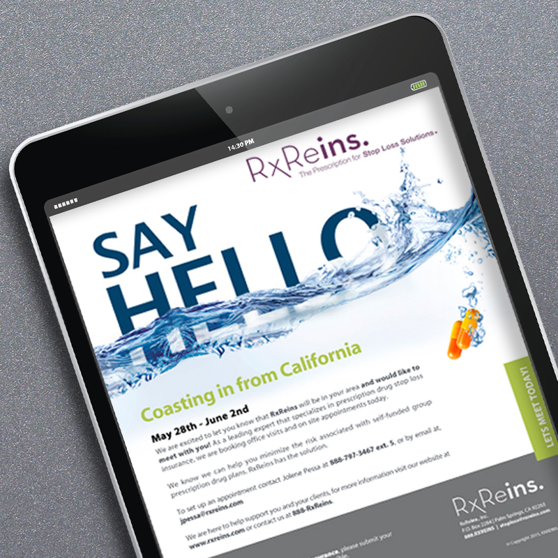 RX Reins - Email Campaign - Say Hello
