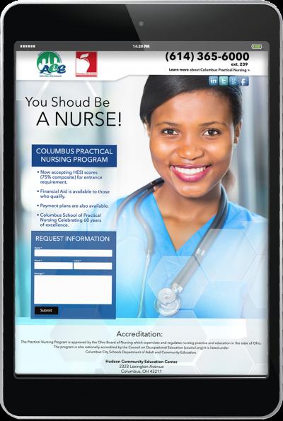 Columbus City School of Nursing - Digital Campaign 2