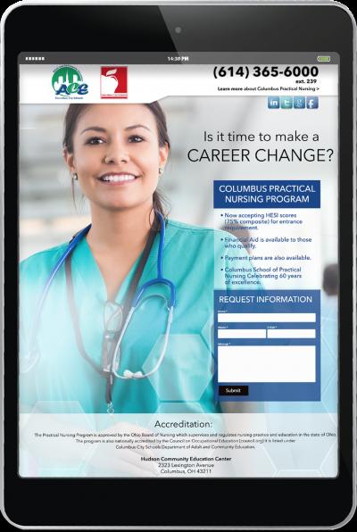 Columbus City School of Nursing - Digital Campaign