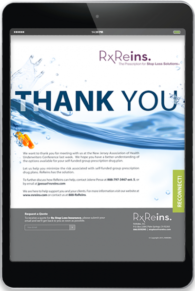 RxReins - Email Campaign - Thank You