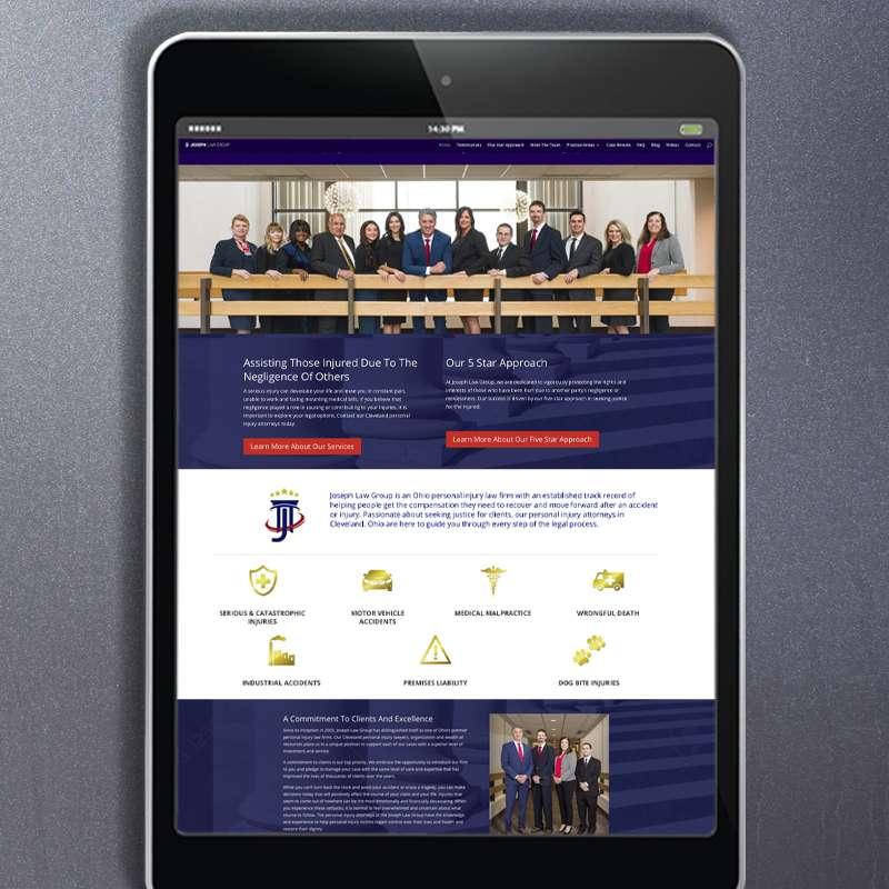 Joseph Law Group - Website Design - iPhone
