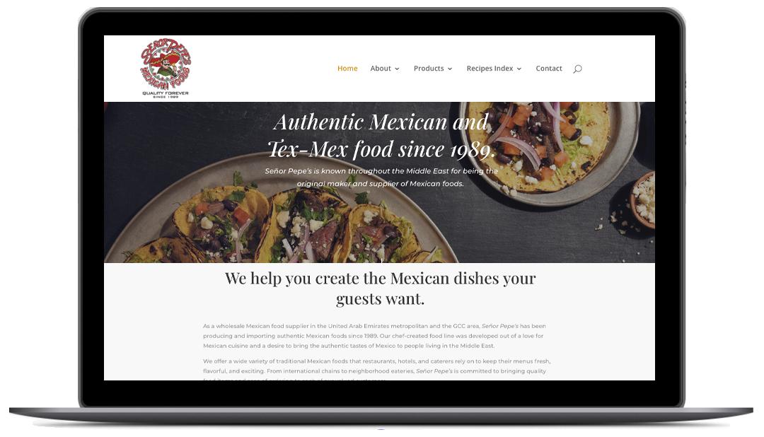 Senor Pepes- Website Design & Development