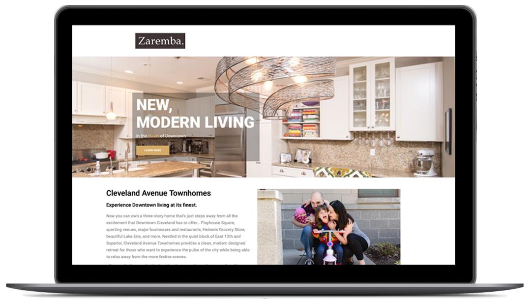 Zaremba Home - Rebranding Website