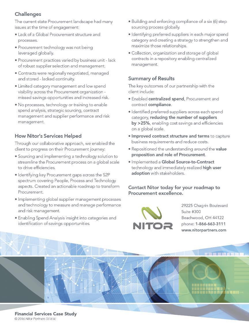 Nitor - Financial Sell Sheet - Back