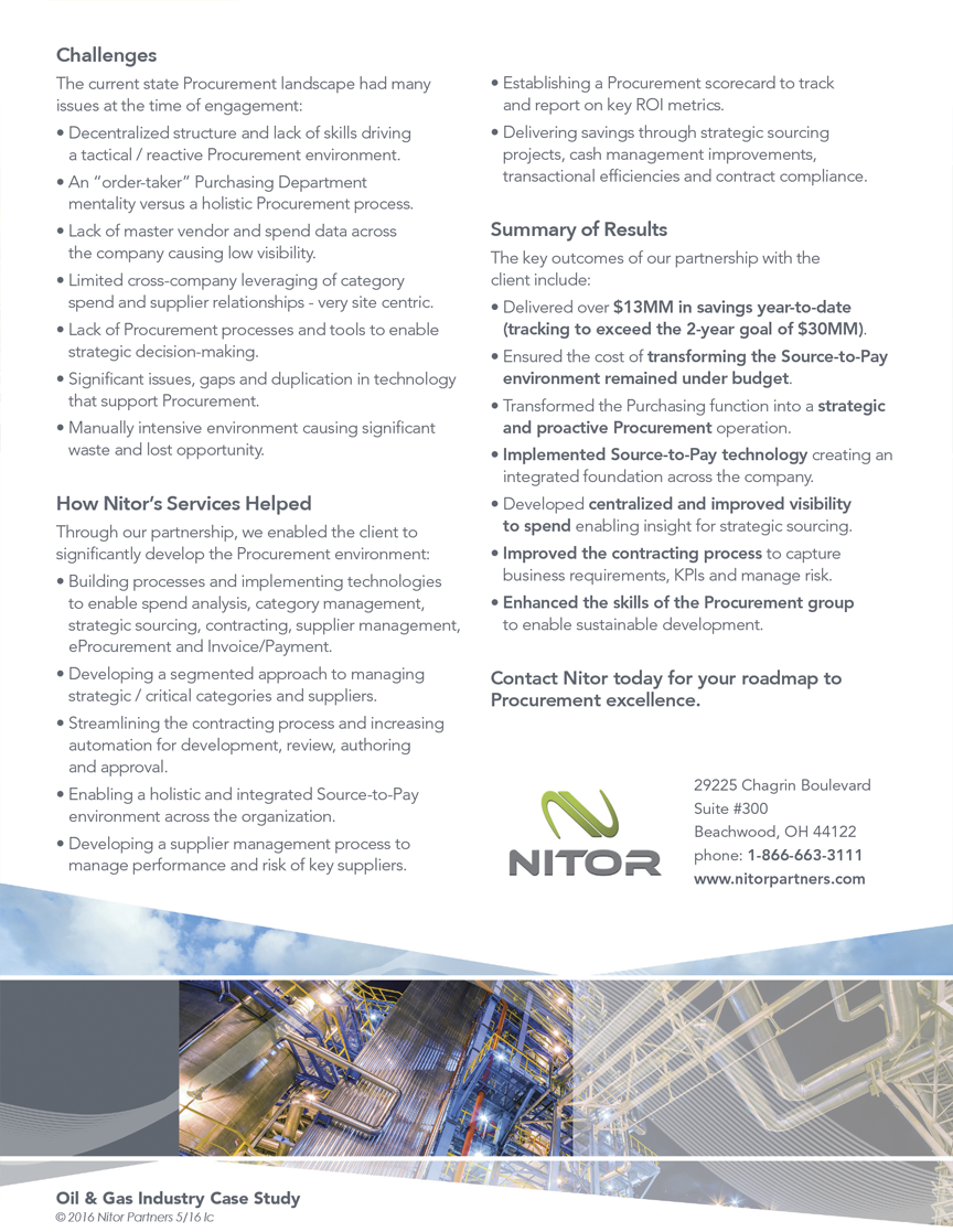 Nitor - Oil & Gas Sell Sheet - Back