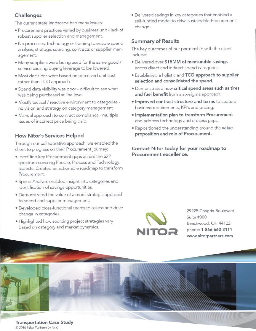 Nitor - Transportation Sell Sheet - Back