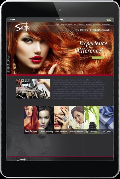 Santo Salon - Website Design 1