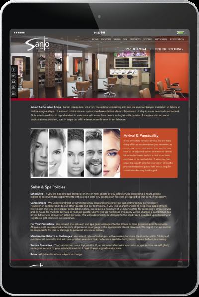 Santo Salon - Website Development