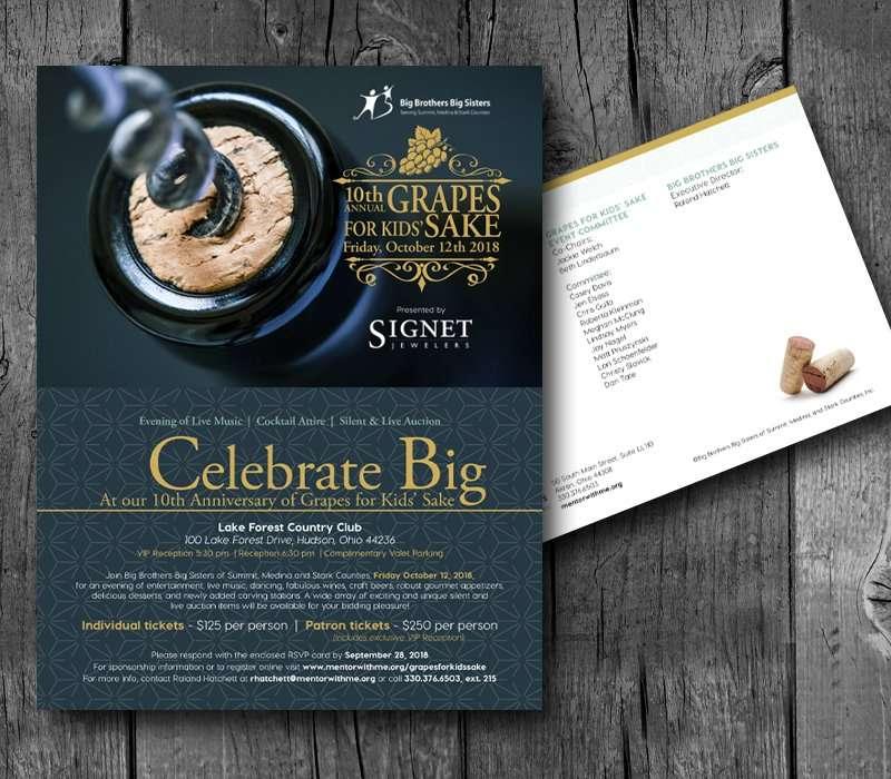 Big Brother Big Siter Fundraising Invite