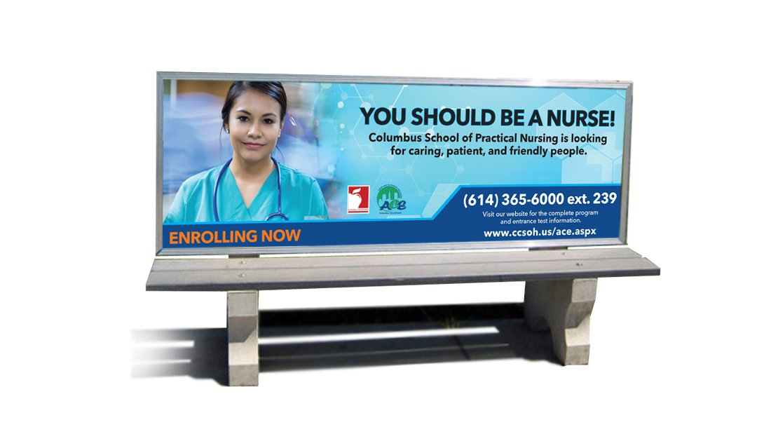Columbus City Schools Bench Sign 3