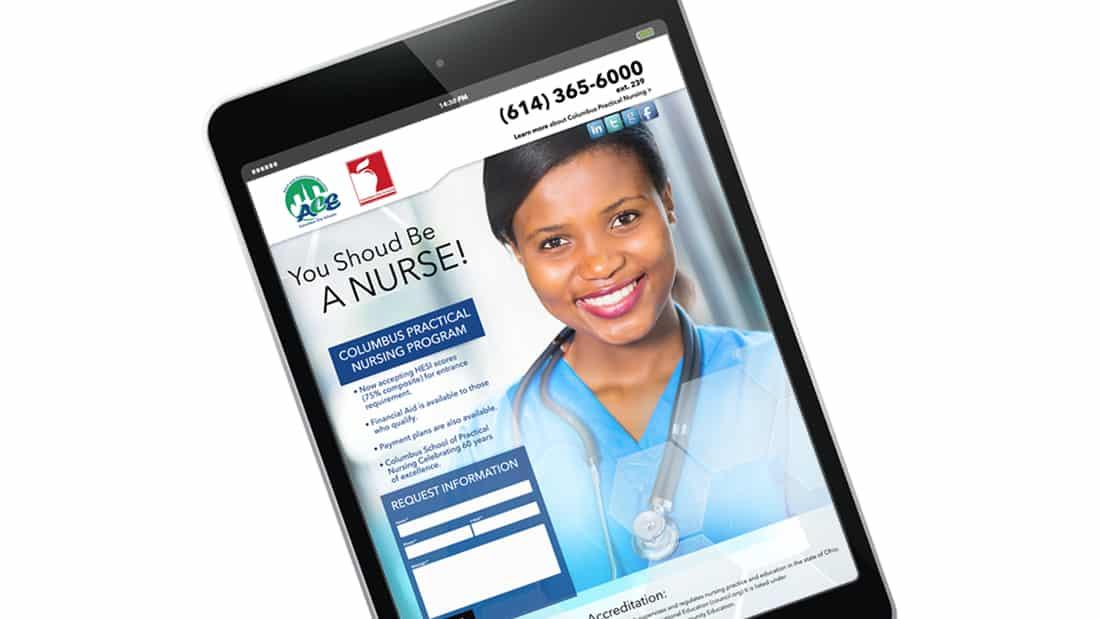 Columbus Nursing-Landing Page 1