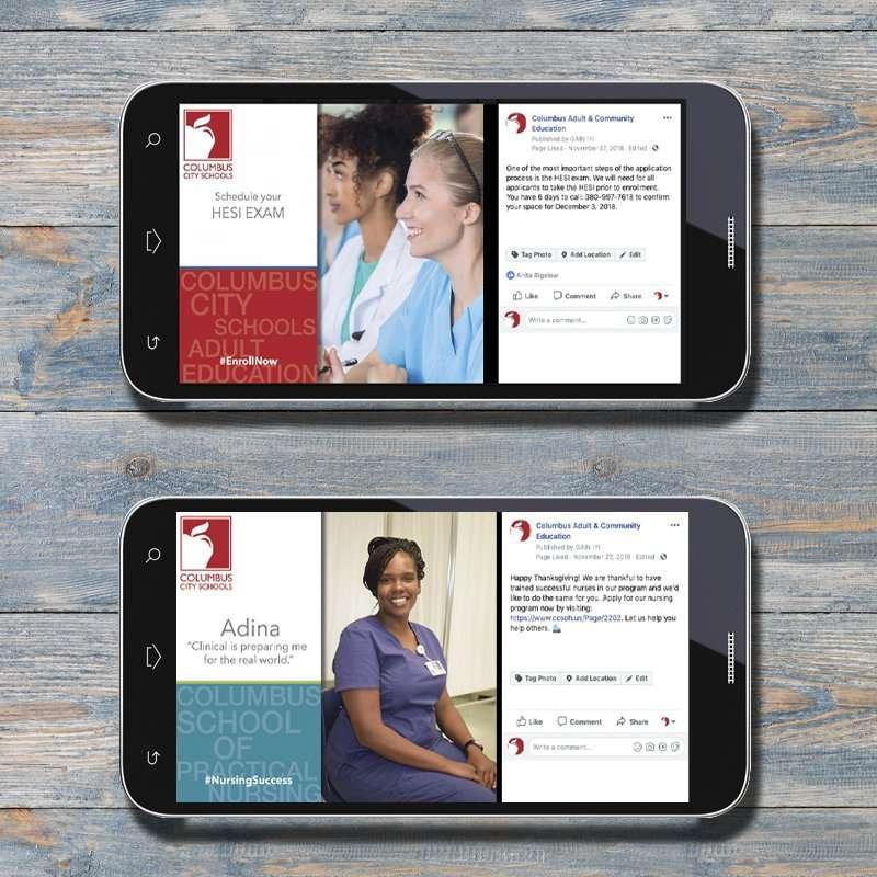Columbus School of Nursing Online Facebook Ads 2
