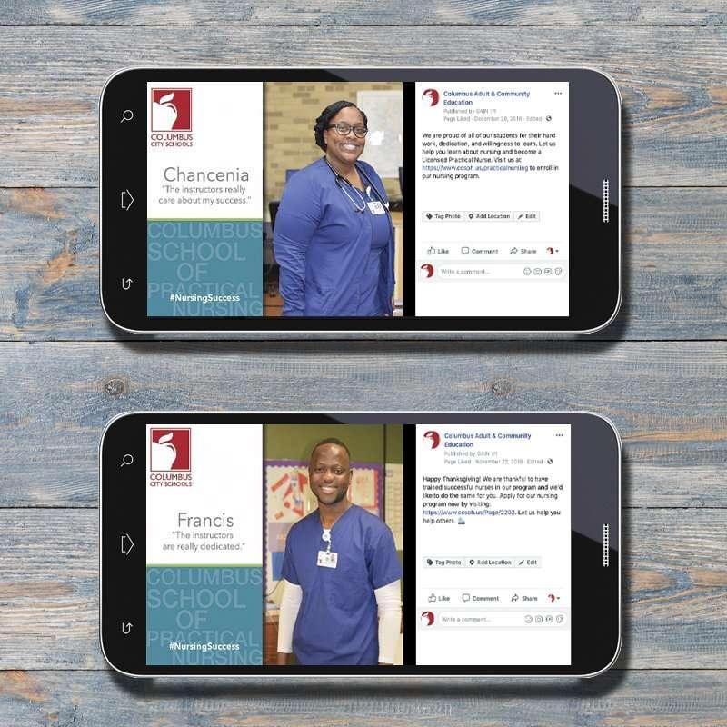 Columbus School of Nursing Social Media 1