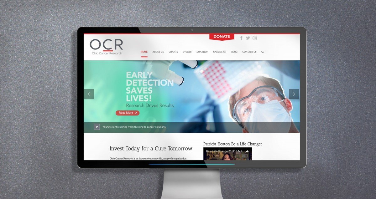 Nonprofit Rebranding for Ohio Cancer Research Website