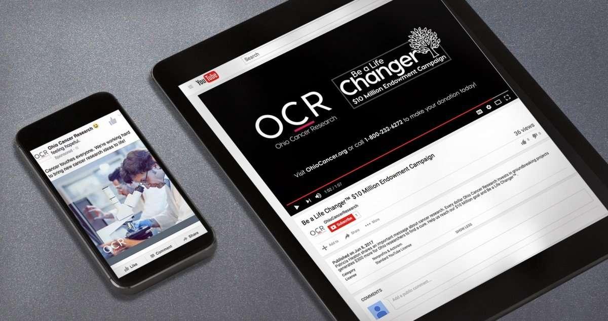 Nonprofit Rebranding for Ohio cancer Research Digital