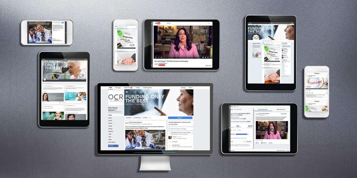Nonprofit Rebranding for Ohio Cancer Research Social Media