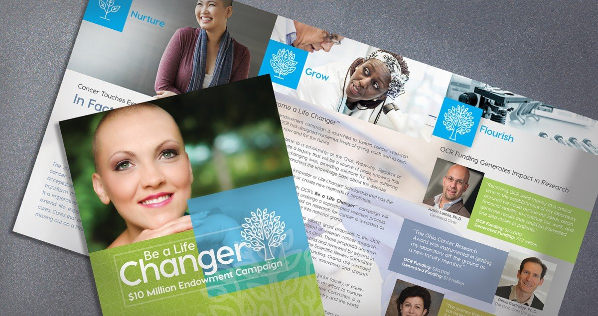 Nonprofit Rebranding for Ohio Cancer Research Fundraising