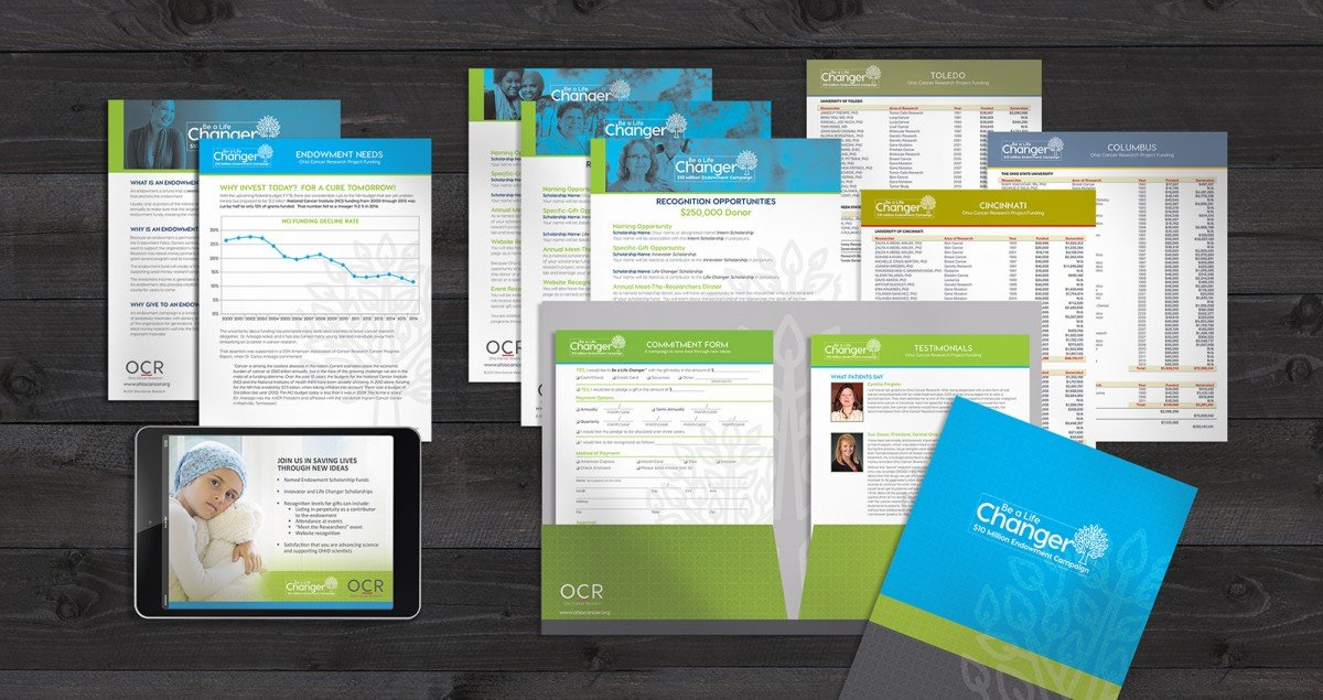 Nonprofit Rebranding for Ohio Cancer Research Materials