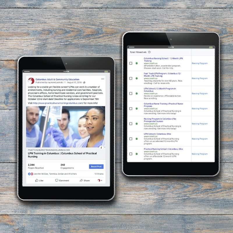 Columbus School of Nursing Social Media